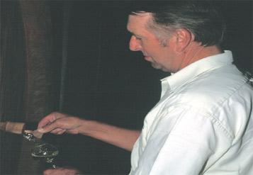 Le vin est suivi en cave ...